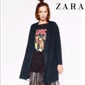 Zara Dark Green Cardigan Car Coat